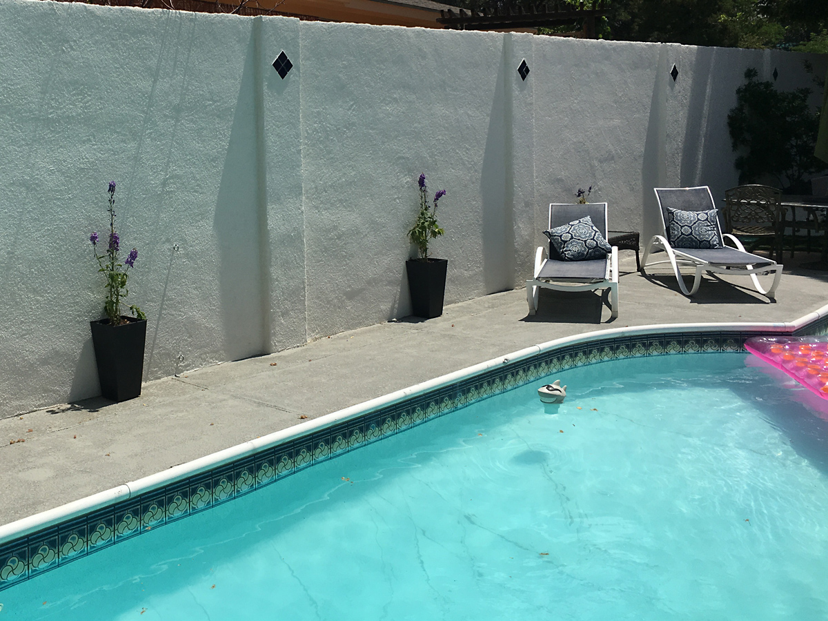 Concrete pool deck after 1200w