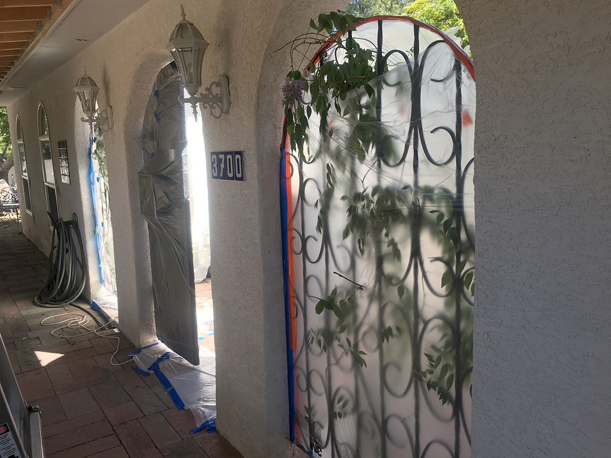 Stucco work prepping for stucco 1200w